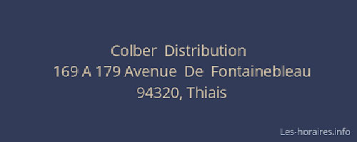 Colber distribution